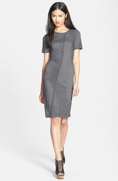 MARC BY MARC JACOBS 'Jamie' Stripe Stretch Knit Dress available at #Nordstrom