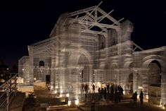 Eduardo Tresoldi. Raising the Ghostly Form of an Ancient Ruined Church – With Wire