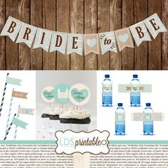 Bride to Be LDS Bridal Shower Banner Cupcake by LDSPrintable