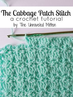 Learn how to crochet the cabbage patch stitch in this step by step tutorial. This textured stitch is great for blankets, scarves and other crochet projects!