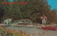 Paul Bunyan and Babe at the Entrance to Trees of Mystery, Redwood Highway, California | Flickr - Photo Sharing| Flickr - Photo Sharing! Description from flickr.com. I searched for this on bing.com/images