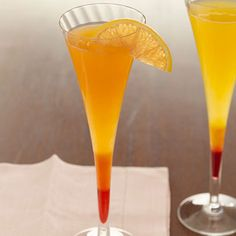 Passion Fruit Mimosas - yum!