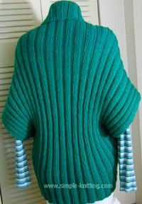 The turtleback sweater knitting pattern is a simple, fun knitting project that's great for new knitters. In fact its the easiest sweater you'll ever knit.
