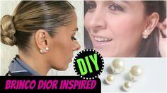 DIY - Brinco DIOR Inspiração - Fácil e Rápido / DIY Dior Earrings Inspired