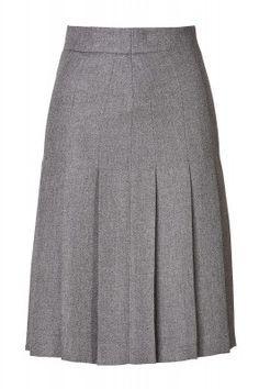 Gray Wool Blend pleated skirt | Elizabeth's Custom Skirts