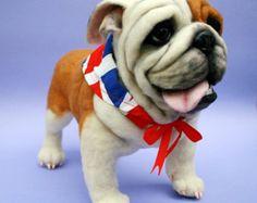 Barney & Junior Nadel gefilzte Englisch Bulldogs Vater von OzBears