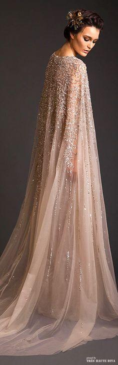 Krikor Jabotian Couture S/S 2014 I WANT THIS CAPE... I'd feel like Elsa