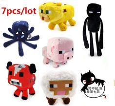 New 7Pcs/Lot Minecraft Enderman Pig Creeper Animal Plush Toy Doll Kids 14.5cm to 26cm  http://playertronics.com/products/new-7pcslot-minecraft-enderman-pig-creeper-animal-plush-toy-doll-kids-14-5cm-to-26cm/