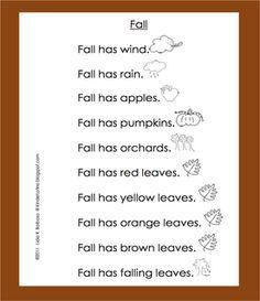 Classroom Freebies: Fall