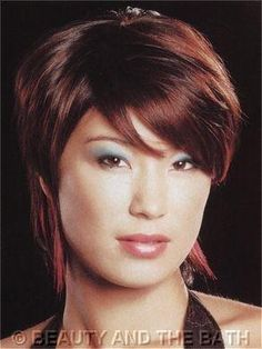 Asian Hairstyles, Hairstyles For Round Faces, Short Hairstyles, Straight Hairstyles, Reddish Brown Hair Color, Brown Hair Colors, Porous Hair, Hair Pictures, Curling