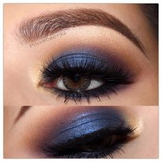 blue eyeshadow - EYES: Ocean Waterproof Cream Color as a base, Star Cobalt shadow on the lid, Fawn and Rich Velvet in the crease. Peach Sorbet in inner corner LASHES: Eyecandy & Godess lashes by Makeup Tips, Beauty Makeup, Eye Makeup, Hair Makeup, Makeup Ideas, Blue Eyeshadow, Pink Eyes, Pretty Eyes, Gorgeous Makeup