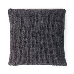 Twist Knit Cushion - Black/Grey