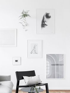 Great black and white gallery wall. Are you looking for beautiful b&w or color art photos and poster prints to create your own art wall? Visit bx3foto.etsy.com