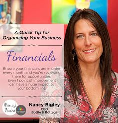 Bottle & Bottega CEO shares a quick tip for organizing your business #NancysNotes