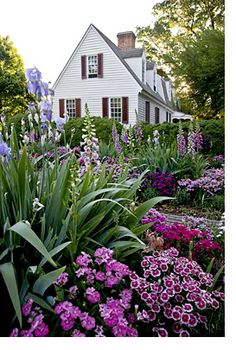 Garden in colonial Williamsburg