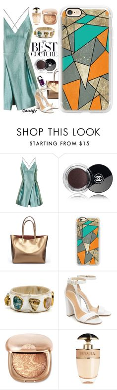 """Ready for the fall?🍂"" by casetify ❤ liked on Polyvore featuring Topshop, Chanel, Casetify, Schutz, Prada and GUiSHEM"
