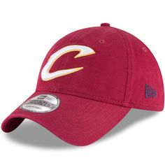 e915b37a84b19 Cleveland Cavaliers New Era Official Team Color 9TWENTY Adjustable Hat -  Wine