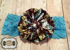 Newborn Vintage-Inspired Brown and Blue by CountryQTBowtique