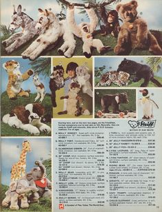 fao schwarz #toy #catalogue #1974 #steiff