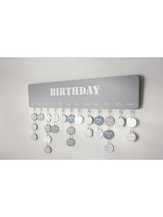 Geburtstagskalender aus lufttrocknendem Ton