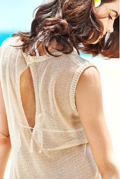 MG Collection® Beige Woven Cotton Fashion Mini Beachwear Swimsuit Cover Up