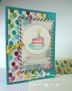 Marelle Taylor Stampin' Up! Demonstrator Sydney Australia: Washi Shaker Card
