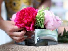 {VIDEO! } Floral Arrangement: Pretty in Peonies by LEAFtv & @Liz Cherkasova
