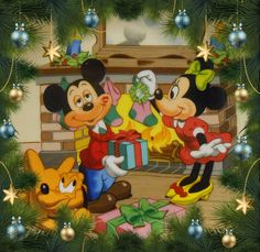 Mickey and Minnie Mouse Disney Merry Christmas, Disney Christmas Decorations, Mickey Mouse Christmas, Mickey Mouse And Friends, Mickey Minnie Mouse, Disney Mickey, Disney Holidays, Walt Disney, Christmas Cartoon Movies