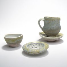 Gwendolyn Yoppolo teacup and strainer