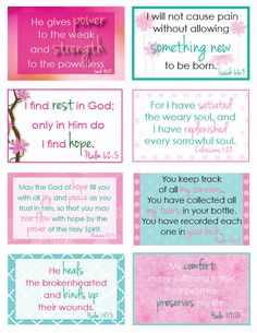 My journey through valley of pain and disappointment has given way to a renewed faith in God's goodness. He is showing me how choosing hope can be done. Printable Bible Verses, Scripture Cards, Scripture Study, Bible Verses Quotes, Bible Scriptures, Valentines Day Words, Inspirational Verses, Verses For Cards, Favorite Bible Verses