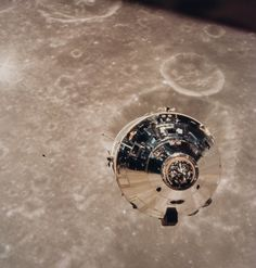 The Apollo 10 command/service module, Charlie Brown, in lunar orbit, May, 1969.