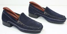 NWOB Women's Cole Haan Country Navy Blue Suede Moc/Loafers Shoes sz 6½ B #ColeHaan #LoafersMoccasins