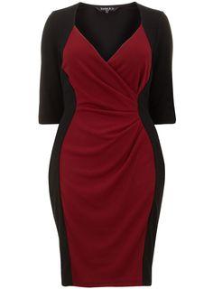 Scarlett & Jo Claret Red Powerfit Dress - www.evans.co.uk