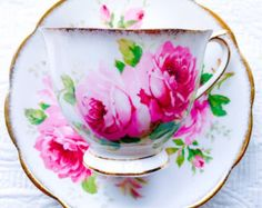 Reserved for J-Royal Albert American Beauty Crown China Pink Roses 1920's Countess Shape Teacup and Saucer - Edit Listing - Etsy
