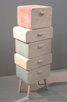 Could build out of vintage suitcases, drawers, cases, even hatboxes..