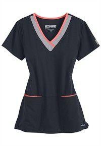 Greys Anatomy Active color block contrast 3 pocket scrub top in Indigo/Moonstruck/Sky Blue Scrubs Outfit, Scrubs Uniform, Spa Uniform, Medical Uniforms, Work Uniforms, Cute Scrubs, Greys Anatomy Scrubs, Medical Scrubs, Nursing Scrubs