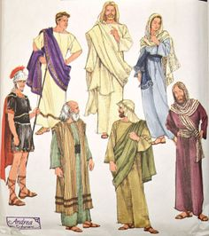 Adult Biblical costumes - Simplicity sewing pattern - Adult size XS-XL