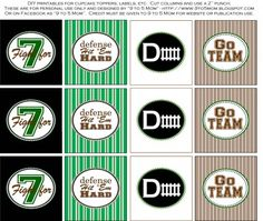 FREE Football Tailgater Printables from 9 to 5 Mom