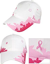 Organic Cotton Pink Ribbon Baseball Hat at The Breast Cancer Site
