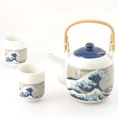 Tea Set Kanagawa Great Wave, $48, now featured on Fab.