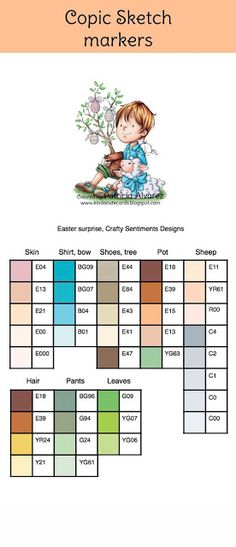 Crafty sentiments designs, copic color combinations, copic sketch, coloring resources, copic combos