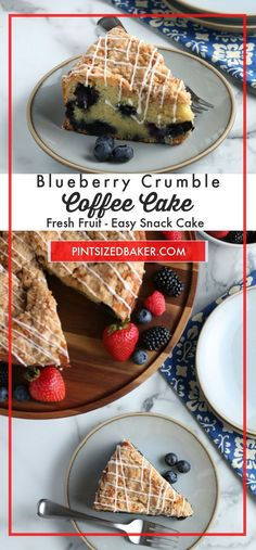 Does it get much better than starting the day with some blueberry coffee cake? This is a recipe you'll adore, from the cake's buttery fluffy texture to the easy, quick instructions. Grab your favorite fruit and let's get started putting together a special breakfast treat! Easy Brunch Recipes, Best Dessert Recipes, Cupcake Recipes, Fun Desserts, Delicious Desserts, Cupcake Cakes, Yummy Food, Cupcakes, Blueberry Crumble Cake