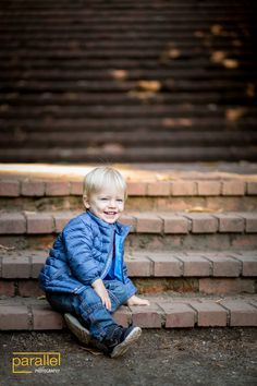 Toddler Portrait on Stairs, Laurelhurst Park - Parallel Photography