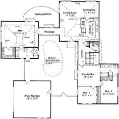U shaped houses on pinterest u shaped houses courtyards for U shaped ranch style home plans