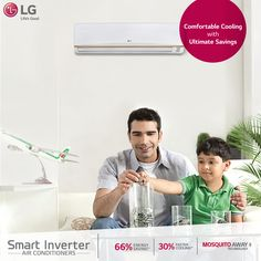 Now save 66% energy with faster cooling in #LG smart Inverter #AirConditioners.