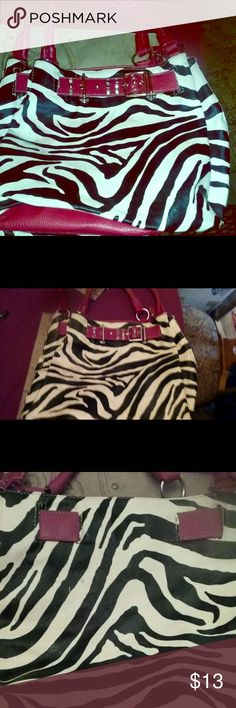 Brand New!  Zebra Print Purse! Amazing Condition! Never Used! Bags Shoulder Bags