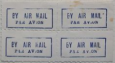 International Airmail And Priority Mail Labels: Barbados: Airmail labels 3