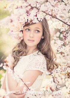 spring senior girl