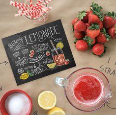 Strawberry Lemonade Recipe - Print - Lily & Val