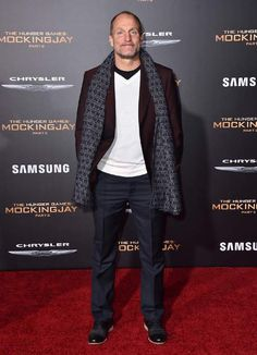 Woody Harrelson at the premiere of Lionsgate's 'The Hunger Games Mockingjay - Part 2' on November 16, 2015...